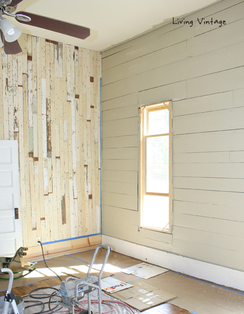 Painting Wood Paneling to make it look cottagey instead of out dated.