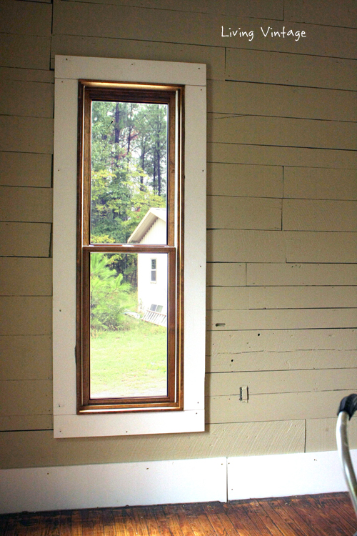 Decorating White Windows With Wood Trim Inspiring