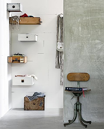 how clever! wall mounted drawers - Featured on Living Vintage's Friday Favorites