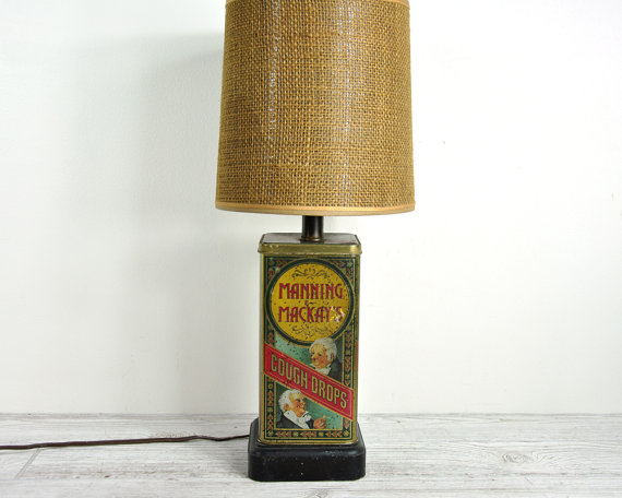 Etsy Finds - Living Vintage - a lamp made with a vintage tin