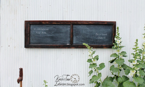 Etsy Finds - Living Vintage - chalkboard made using an antique window or cabinet door