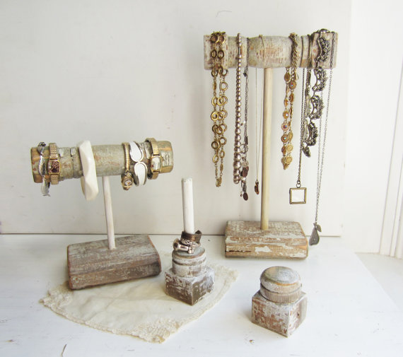 Etsy Finds - Living Vintage - jewelry display using reclaimed wood