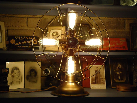 Etsy Finds - Living Vintage - repurposed electric fan