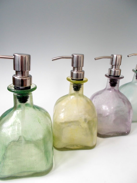 Etsy Finds - Living Vintage - soap dispensers using recycled Patron bottles