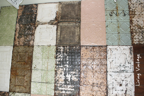 Attractive Our New Ceiling Using Reclaimed Tin   Living Vintage