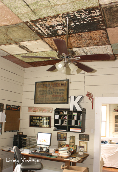 Our New Ceiling Using Reclaimed Tin - Living Vintage