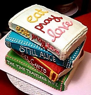 a book cake featured on Living Vintage's Friday Favorites