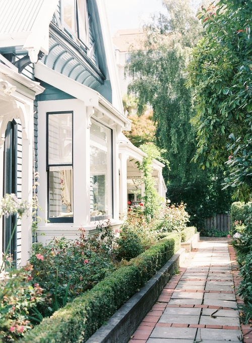 a delightful garden and path - featured on Living Vintage's Friday Favorites