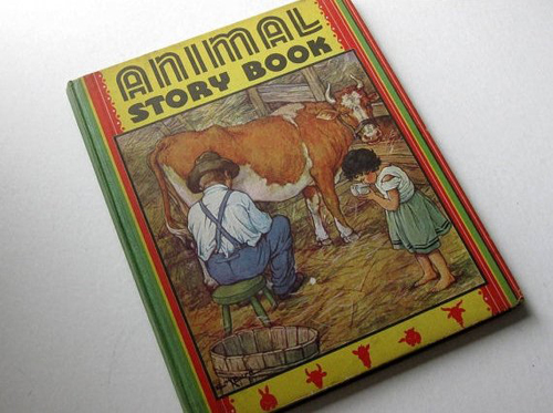Animal story book - Etsy find - featured on Living Vintage