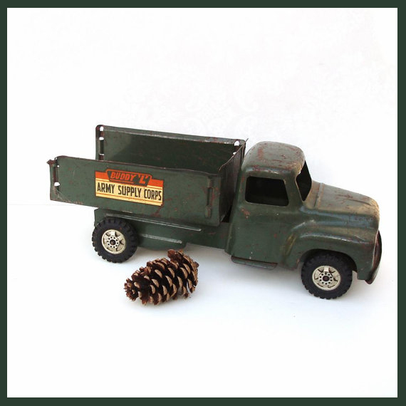 Featured on Living Vintage - Buddy L toy truck