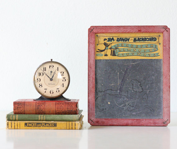 Featured on Living Vintage - vintage chalkboard