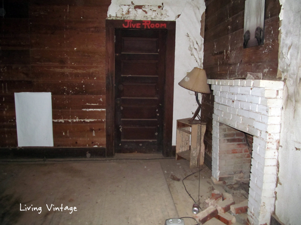 "The ""Jive Room"" in Old Next Old House Salvage Project - Living Vintage"