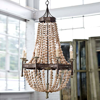 Regina Andrew Lighting Wood Bead Chandelier - featured on Friday Favorites - Living Vintage
