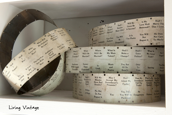 these old fortune telling bands crack me up every time I look at them - click on over to see our living room renovation!
