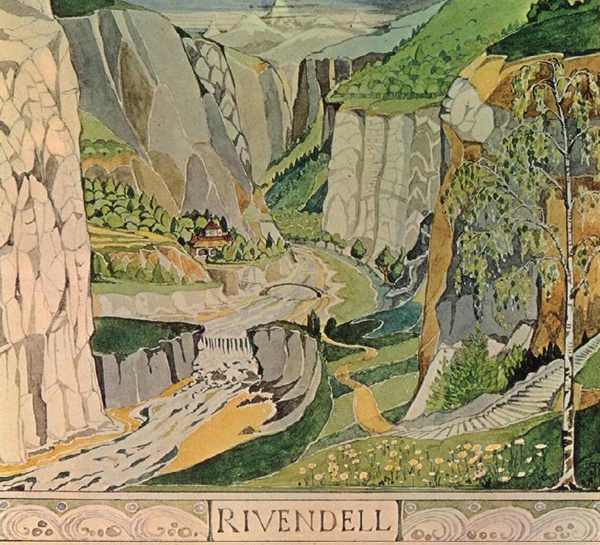 an illustration of rivendell - featured on Living Vintage's Friday Favorites
