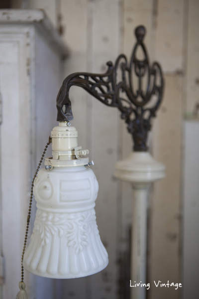 antique bridge lamp - Living Vintage