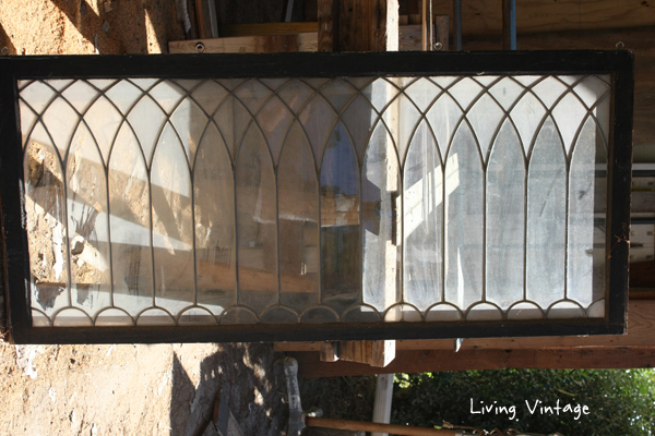 antique leaded glass windows - Living Vintage