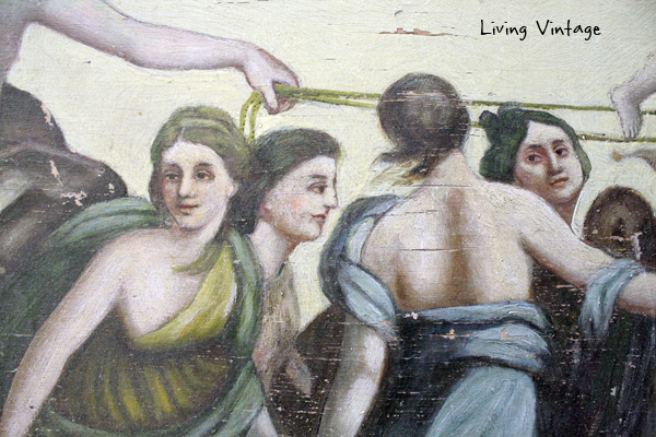 detail of old painting - 2 - Living Vintage