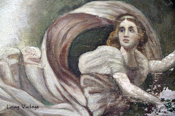 detail of old painting - 4 - Living Vintage