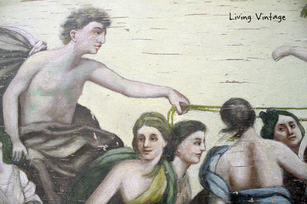 detail of old painting - Living Vintage