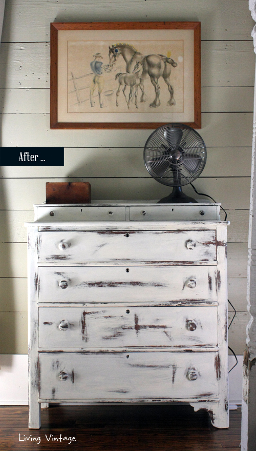 A bedroom dresser makeover (the after)  - Living Vintage