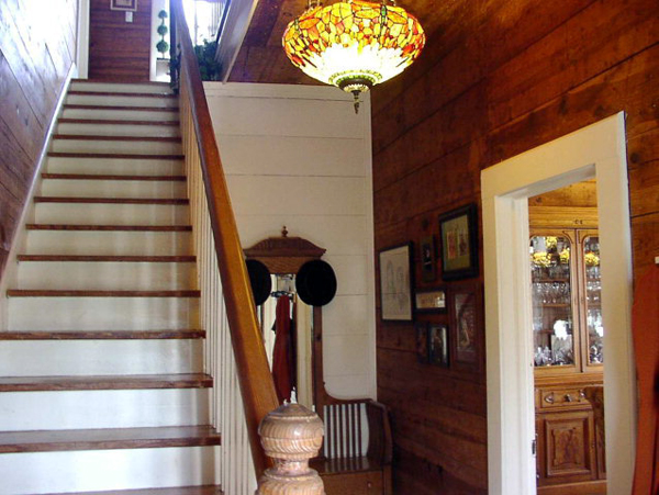 foyer and staircase of the farmhouse we almost bought - Living Vintage