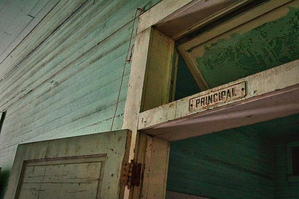 love this photo of an abandoned school - featured on Living Vintage's Friday Favorites