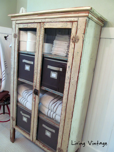 Vintage Bathroom Cabinets For Storage Our Ensuite Master Project Living