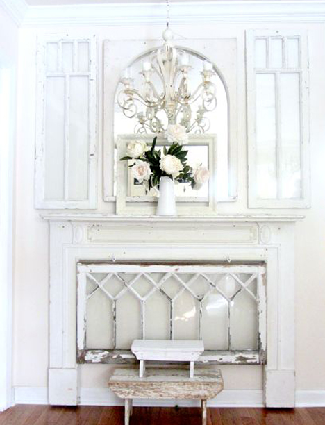a pretty, white vignette - featured on Living Vintage's Friday Favorites
