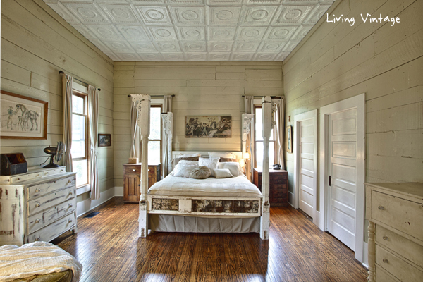 view of the bedroom from the doorway - Living Vintage