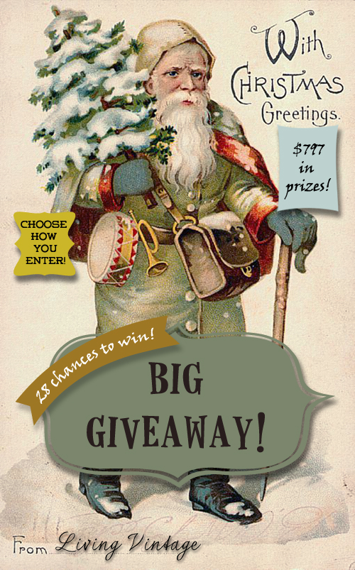 Living Vintage Giveaway - 27 prizes totalling more than $750!
