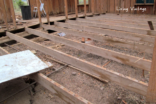 beautiful floor joists