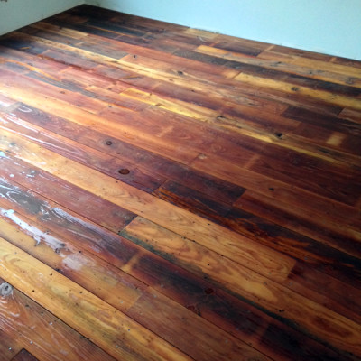 Antique Reclaimed Flooring Installed
