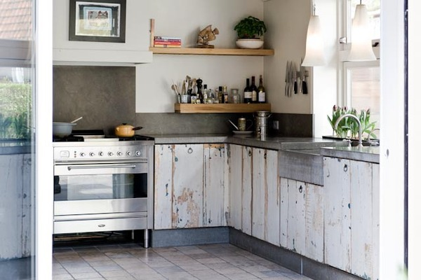 Kitchen Cabinets Made With Reclaimed Wood Featured On Living Vintage
