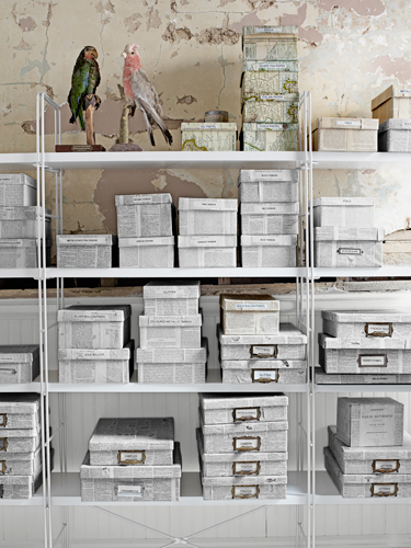 newspaper storage boxes - featured on Living Vintage
