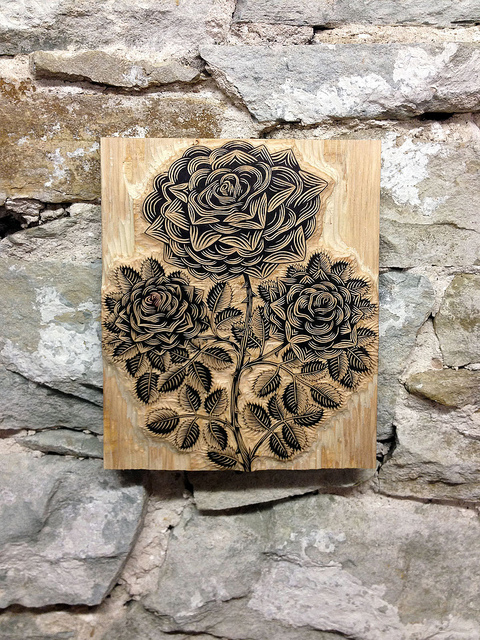 carved wooden printing block - Friday Favorites - Living Vintage