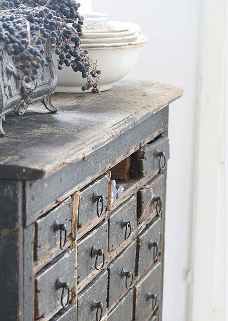 Wonderful French Blue cabinet - featured on Living Vintage's Friday Favorites