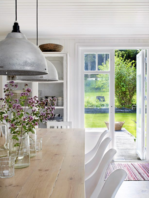 a gorgeous dining room with an inspiring view - Friday Favorites - Living Vintage