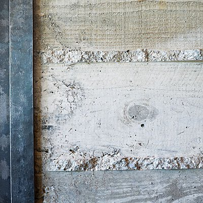 board formed concrete - featured on Living Vintage's Friday Favorites. Come on over to see what else we picked out for you this week