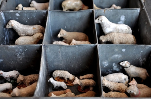 Darling corralled miniature sheep - featured on our weekly Friday Favorites. Come on over to check out our other 7 industrial picks for this week!