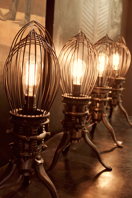 lights made with wire whisks - featured on Living Vintage's Friday Favorites. Head on over to see what else we picked this week!