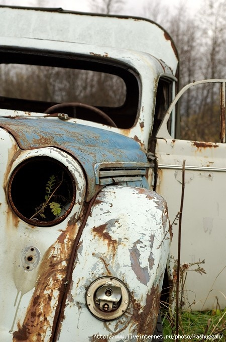 rusty jalopy - featured on Living Vintage's Friday Favorites