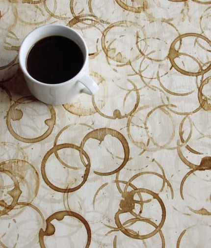 coffee rings as art - Friday Favorites - Living Vintage