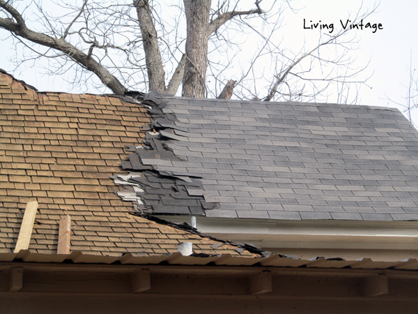 we started removing 5 layers of shingles from the roof - Living Vintage