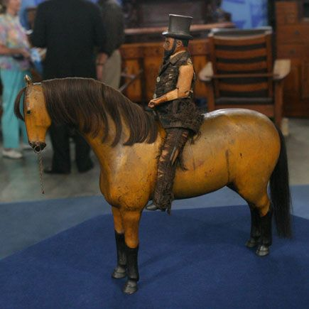 19th century folk art horse and rider - one of 8 picks for this week's Friday Favorites - Living Vintage