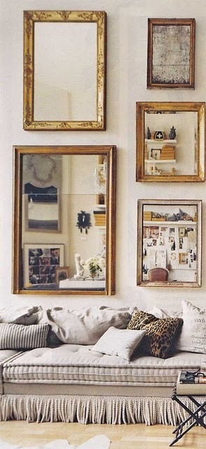 (Mostly) Wordless Wednesday :: Mirror Collections - Living Vintage