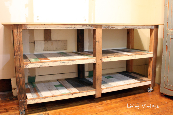 New Laundry Room Cabinets Built Using Reclaimed Wood