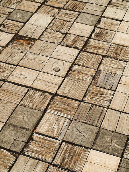 a beautiful wood mosaic - one of 8 picks for this week's Friday Favorites - Living Vintage