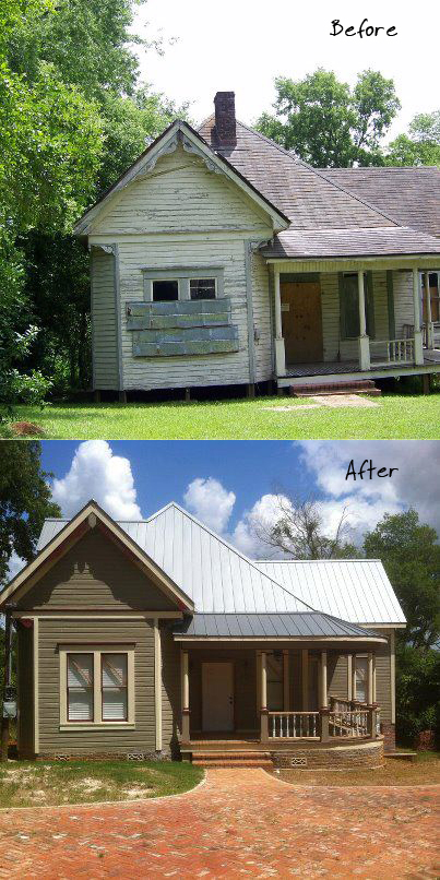 Before and After - Nacogdoches house