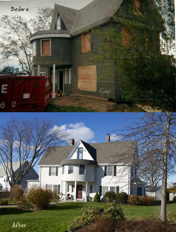 Danielle's house - before and after
